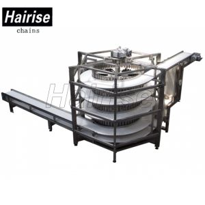 Food Grid POM/PP Modular Belt Screw Conveyor System pictures & photos