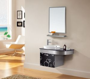 Stainless Steel Bathroom Cabinet Made in China (T-9453) pictures & photos