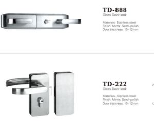 High Quality Stainless Steel Glass Door Lock/ Td-222 pictures & photos