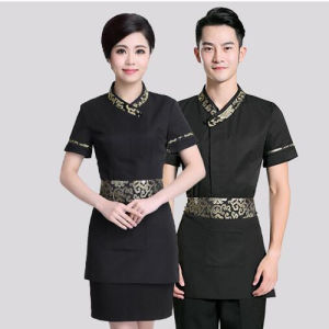 Professional Hotel Waiter Uniforms/Fashion Hotel/Restaurant Working Uniform pictures & photos