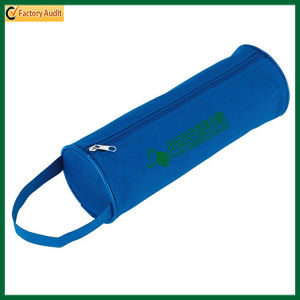 Handled Zippered Polyester Round Holder Pencil Case (TP-PCB017) pictures & photos