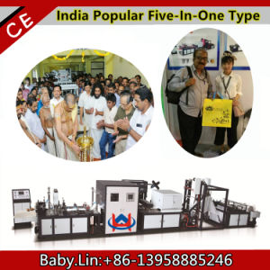 Baby Lin Five in One Non Woven Bag Making Machine pictures & photos