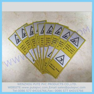 PT-St-007 Adhesive Security Warning Attention Sticker PVC Customized Adhesive Warning Label