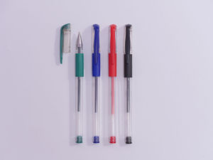 Platsic Gel Pen with Rubberized Grip pictures & photos