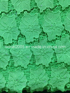 2016 Tulle Embroidered Bridal Corded Beaded Lace Fabric pictures & photos