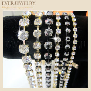 Wholesale Rhinestone Cup Chain, Rhinestone Chain Gold, Shoe Accessories pictures & photos
