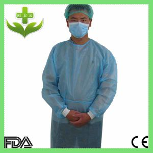 Mingerkang Waterproof Medical Plastic Coated Gown PP + PE pictures & photos