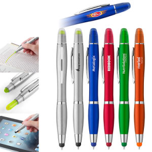 Combo Highlighter Pens with Stylus pictures & photos