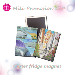 Glitter 6PCS Set of Tinplate Fridge Magnet Promotional Gift pictures & photos