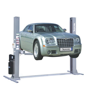Base Type Electric Two Car Lift with Ce Approved