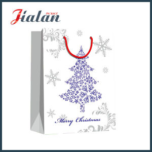 White Color Hot Stamping Paper Bag Christmas Gift Bag pictures & photos