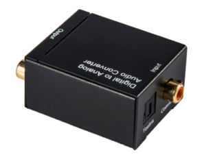 Digital Optical Coaxial RCA Toslink Signal to Digital Analog Audio Converter pictures & photos