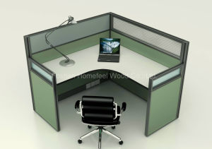 Frosted Glass Modular Office Single Workstation Furniture (HF-YZ054) pictures & photos