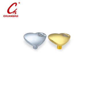 Furniture Hardware Heart Shape with Crystal Door Knob Handle pictures & photos