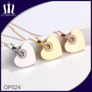 New Design Neck Rhinstone Gold Heart Pendant pictures & photos