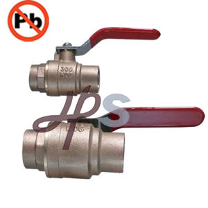 Lead Free Casting Bronze Ball Valve Solder or NPT Thread pictures & photos