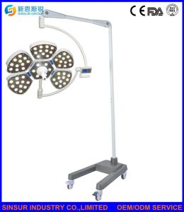 Hospital Surgical Equipment Cold Shadowless LED Mobile Operating Lamp pictures & photos