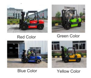 Forklift with Isuzu Engine and Color Cab Be Choose pictures & photos