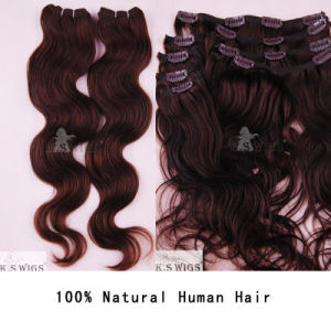 Wholesale Price Clip Hair Extension Indian Human Hair pictures & photos