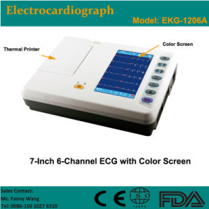 CE Approved Digital 6-Channel Color Electrocardiograph ECG (EKG-1206A) -Fanny pictures & photos