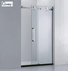 Bathroom Glass Sliding Door/Shower Screen with Ce/SGCC/CCC (A-CVP031-D)