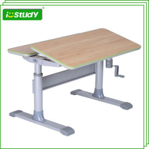 Classical Durable Height Adjustable Student Desk Baby Furniture pictures & photos