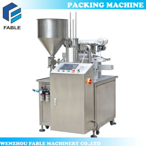 Plastic Cup Filling Sealing Packing Machine for Coconut Milk (VR-2) pictures & photos