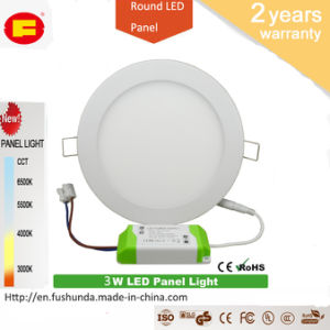 3W LED Panel No Flicker LED Bulb with Round Shape pictures & photos