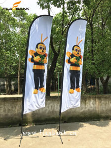 Exhibition Aluminium Digital Printing Feather Banner Flag Stand pictures & photos