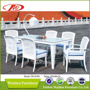 Rattan Chair Furniture Rattan Dining Table Set (DH-6169) pictures & photos