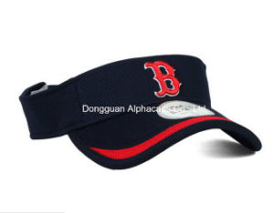 High Quality Blue Bruched Cotton Twill Sun Visor Cap pictures & photos