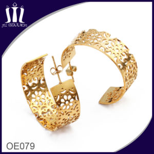 Laser Cutting Hollow Flower Jewellery Stud Earrings pictures & photos
