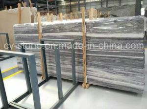 Chinese Grey Wooden Marble for Wall and Flooring Tile