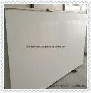 Wholesale White/Grey Quartz Polished Solid Surface for Kitchen Countertop pictures & photos
