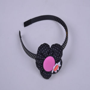 Black Flower Modelling, White DOT DOT, Fashion Girls Hair Accessories, Girls Head Hoop, Tiaras