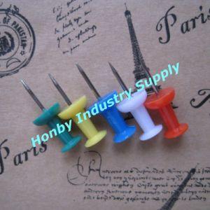 Regular Handle Shaped Plastic Head Thumb Tacks Push Pin (P160125B) pictures & photos