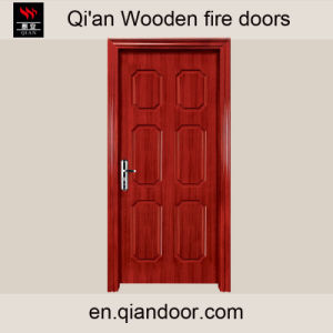 China Entry Wood Fireproof Fire Rated Door pictures & photos