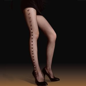 Side Heart Pantyhose with Rhinestone Z8002 pictures & photos