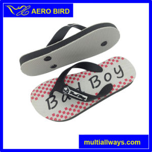 Kids Leisure PE Flip Flops with Bad Boy Print