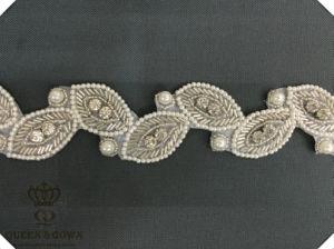 Long Section of The Leaf-Type Wedding Dress Rhinestone Belt