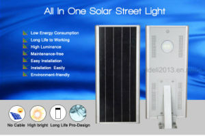 2017 New Product Outdoor IP65 Waterproof Road Lamp 150lm/W Integrated All in One Solar LED Street Light pictures & photos