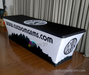 Customized No Wrinkle Elastic Polyester Fabric 8FT Table Cover pictures & photos