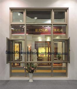 2017 New Style Break Bridge Aluminium Casement Window with Fly Mesh pictures & photos