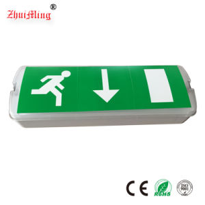 ABS Plastic Rechargeable Fire Exit Sign LED Slim Emergency Light pictures & photos