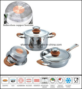 Copper Core Impact Bottom Stainless Steel Cookware Set pictures & photos