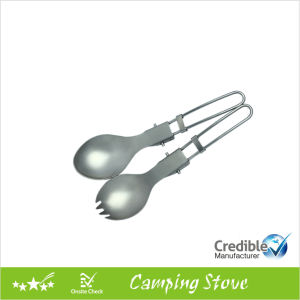 Hight Quality Folding Titanium Spork for Camping pictures & photos