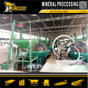 Rock Gold Mining Grinder Machinery Wet Pan Mill Gold Recovery