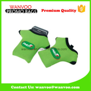 Green Neoprene Cell Phone Pouch Holder China pictures & photos