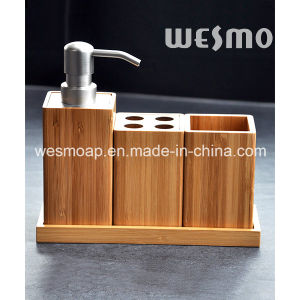 Environmentally Friendly Carbonized Compact Bamboo Bathroom Set pictures & photos