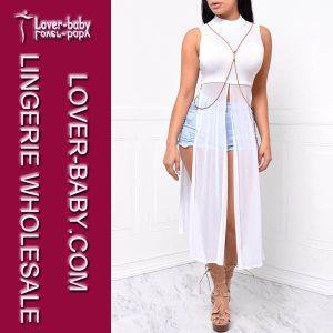 White Fashion Causal Dress Women Clothes (L51321-2) pictures & photos